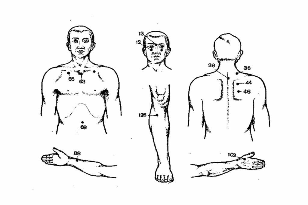 Точки воздействия для массажа