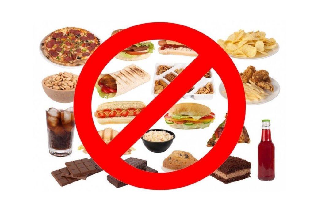 Запрещенные или вредные продукты при бронхите