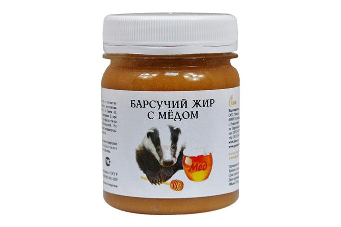 Барсучий жир с медом от бронхита