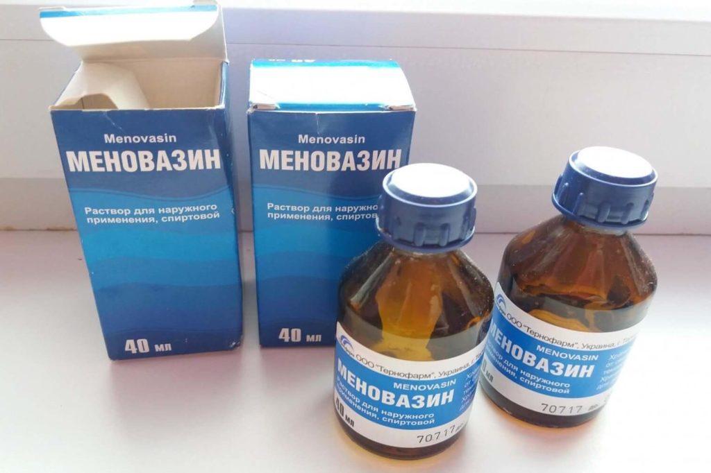 Раствор для растирания Меновазин