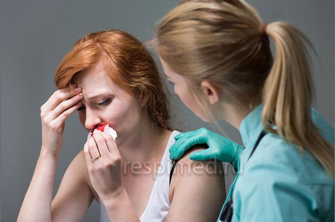 Почему возникает носовое кровотечение